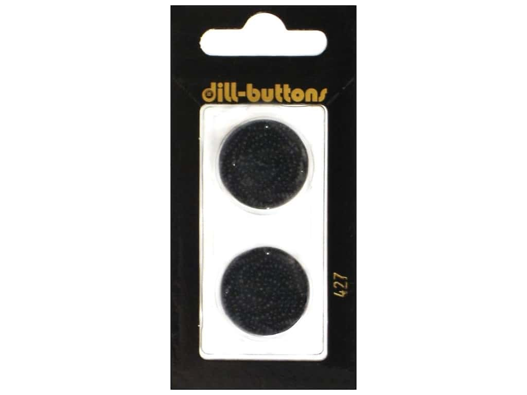 Dill Shank Buttons 7/8 in. Black #427 2 pc.
