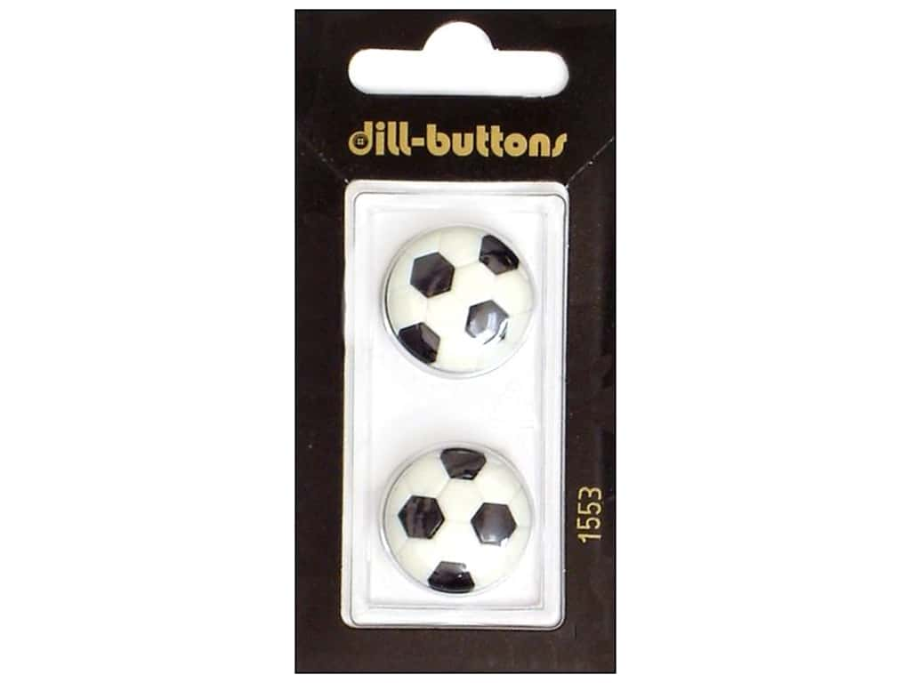 Dill Shank Buttons 13/16 in. Soccer Ball #1553 2 pc.