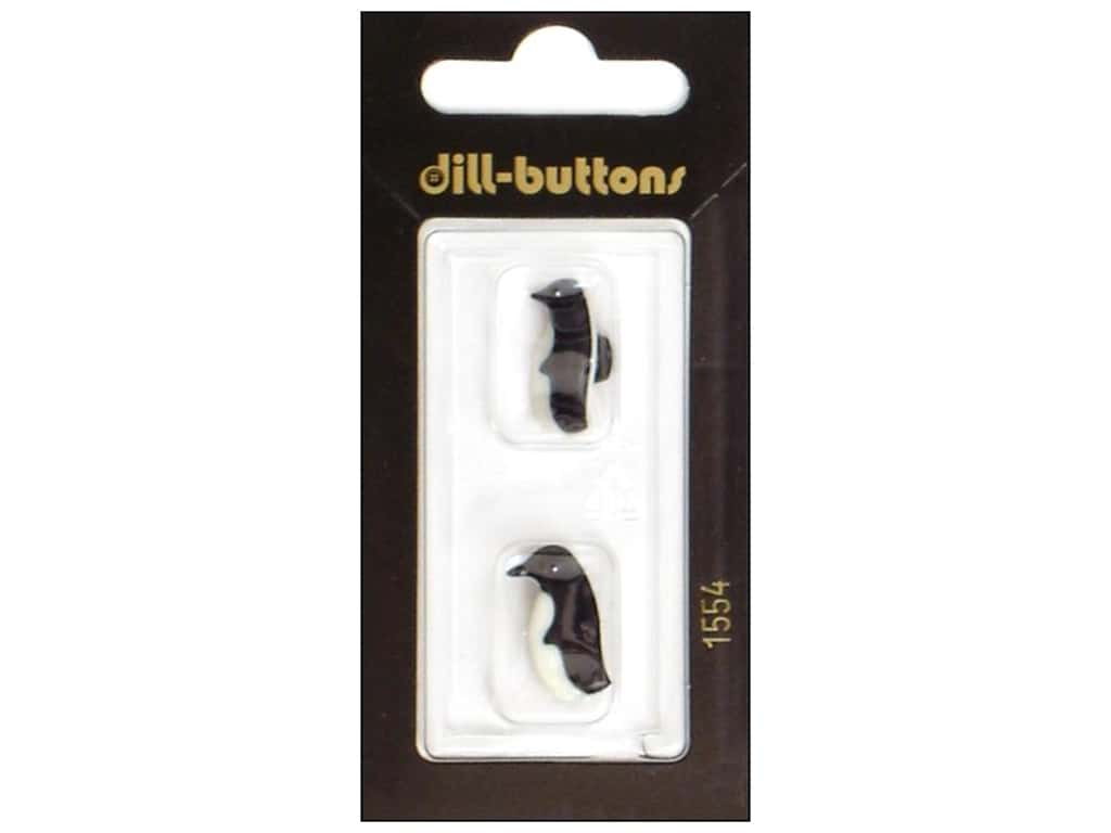 Dill Shank Buttons 11/16 in. Penguin Black/White #1554 2 pc.
