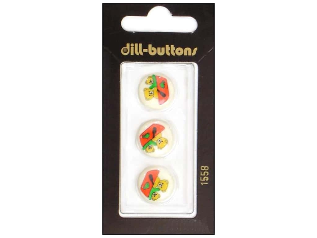 Dill Shank Buttons 5/8 in. Beige Bears Boating #1558 3 pc.