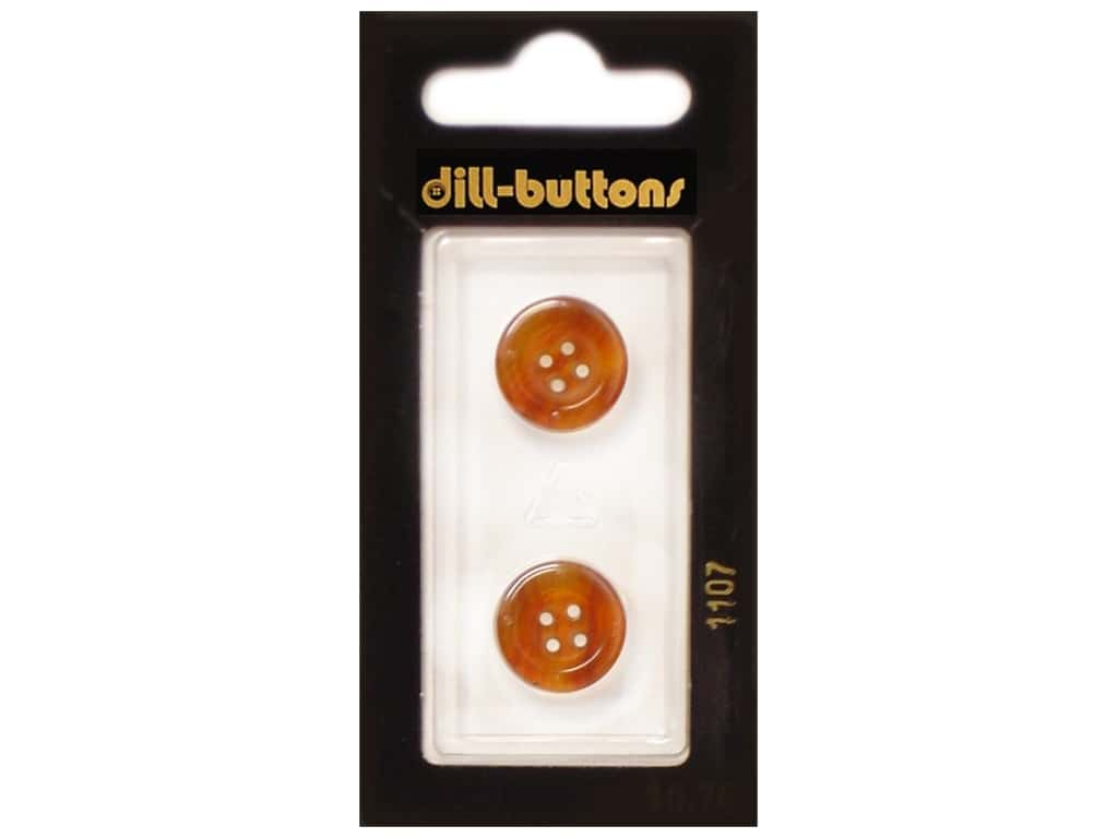 Dill 4 Hole Buttons 5/8 in. Brown #1107 2 pc.