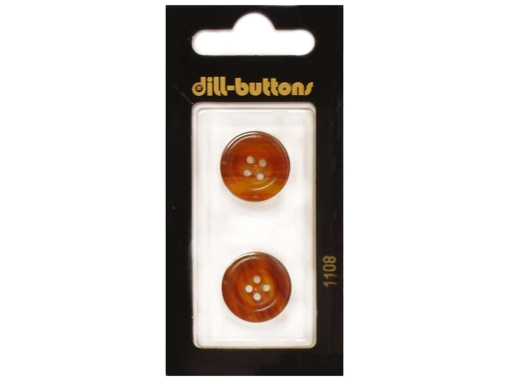 Dill 4 Hole Buttons 11/16 in. Brown #1108 2 pc.