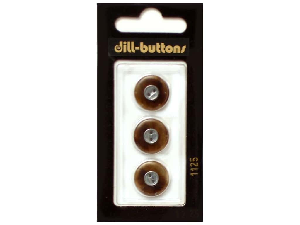 Dill 2 Hole Buttons 5/8 in. Brown #1125 3 pc.