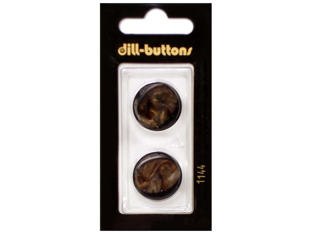 Dill Shank Buttons 13/16 in. Brown #1144 2 pc.