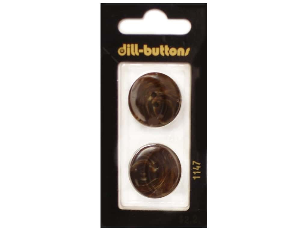 Dill Shank Buttons 7/8 in. Brown #1147 2 pc.