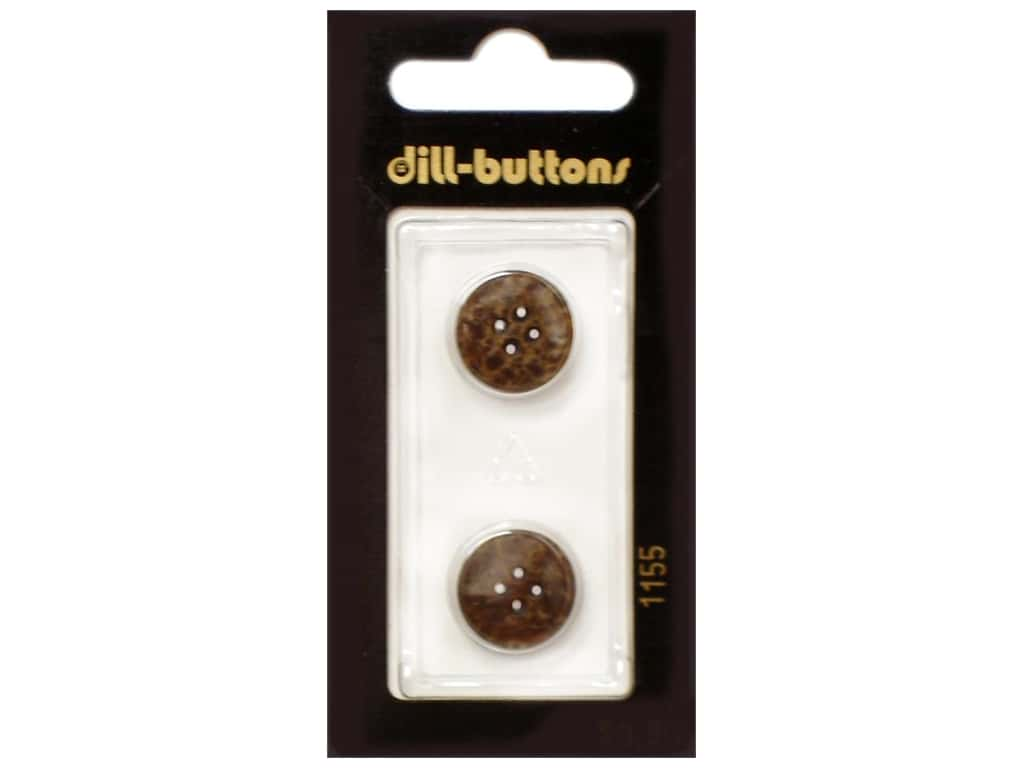 Dill 4 Hole Buttons 5/8 in. Brown #1155 2 pc.