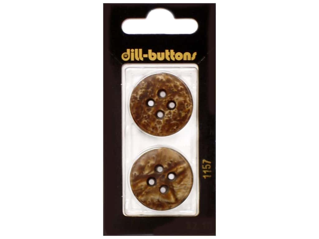 Dill 4 Hole Buttons 1 in. Brown #1157 2 pc.