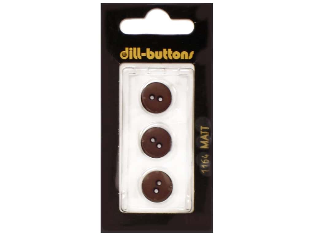 Dill 2 Hole Buttons 1/2 in. Brown #1164 3 pc.