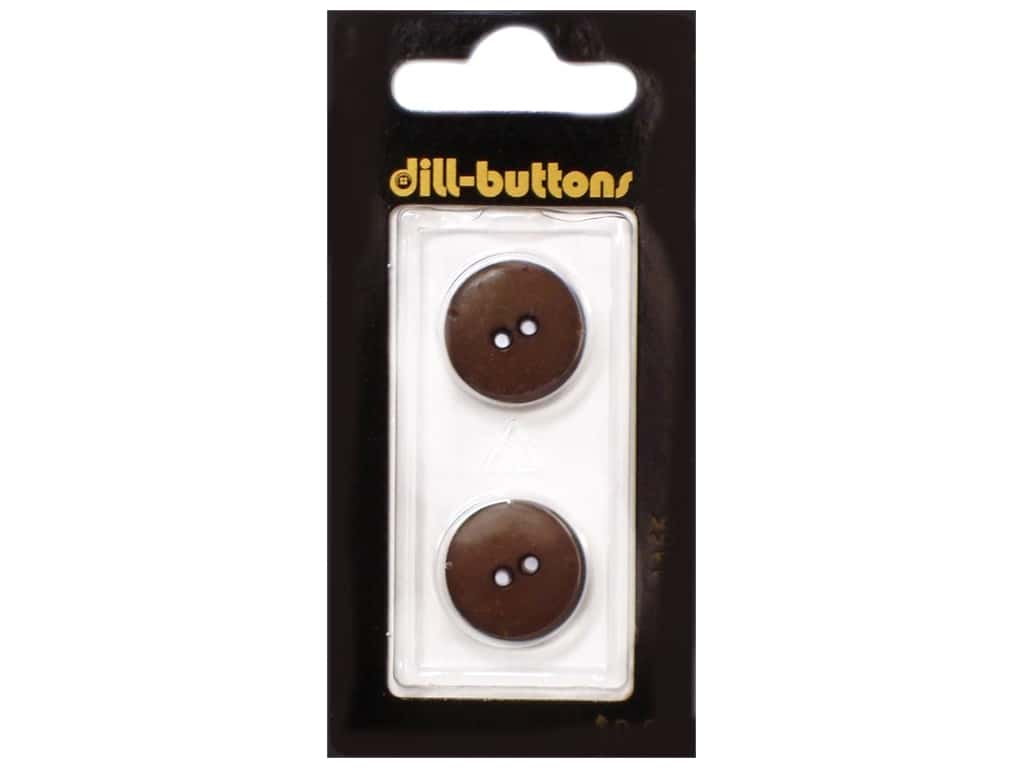 Dill 2 Hole Buttons 11/16 in. Brown #1466 2 pc.