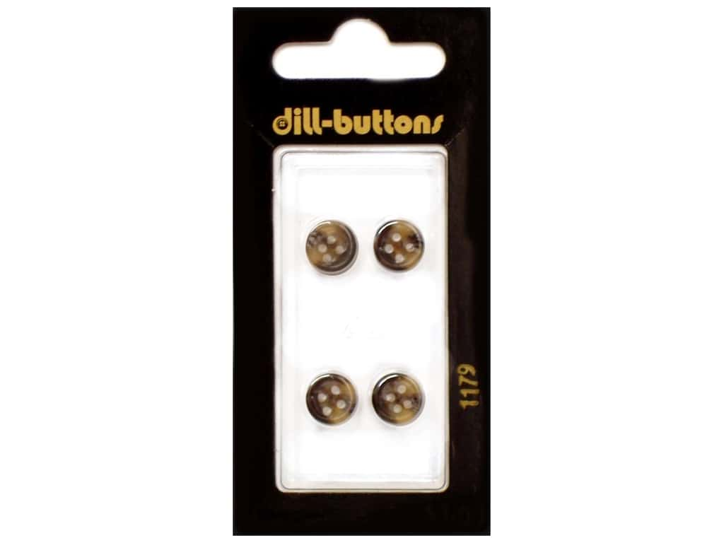 Dill 4 Hole Buttons 3/8 in. Brown #1179 4 pc.