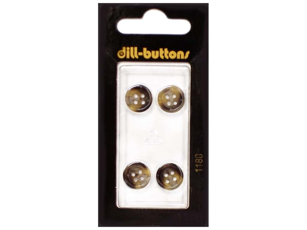 Dill 4 Hole Buttons 7/16 in. Brown #1180 4 pc.