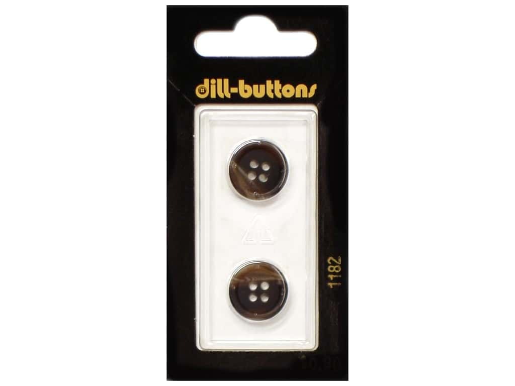 Dill 4 Hole Buttons 5/8 in. Brown #1182 2 pc.