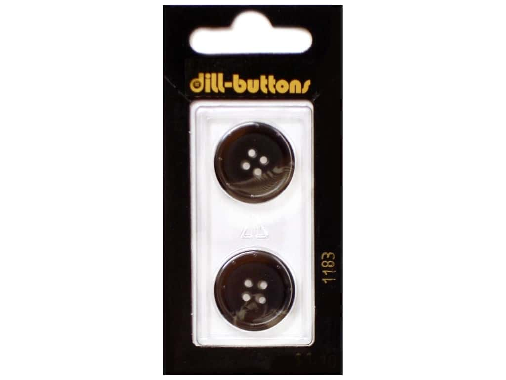 Dill 4 Hole Buttons 13/16 in. Brown #1183 2 pc.