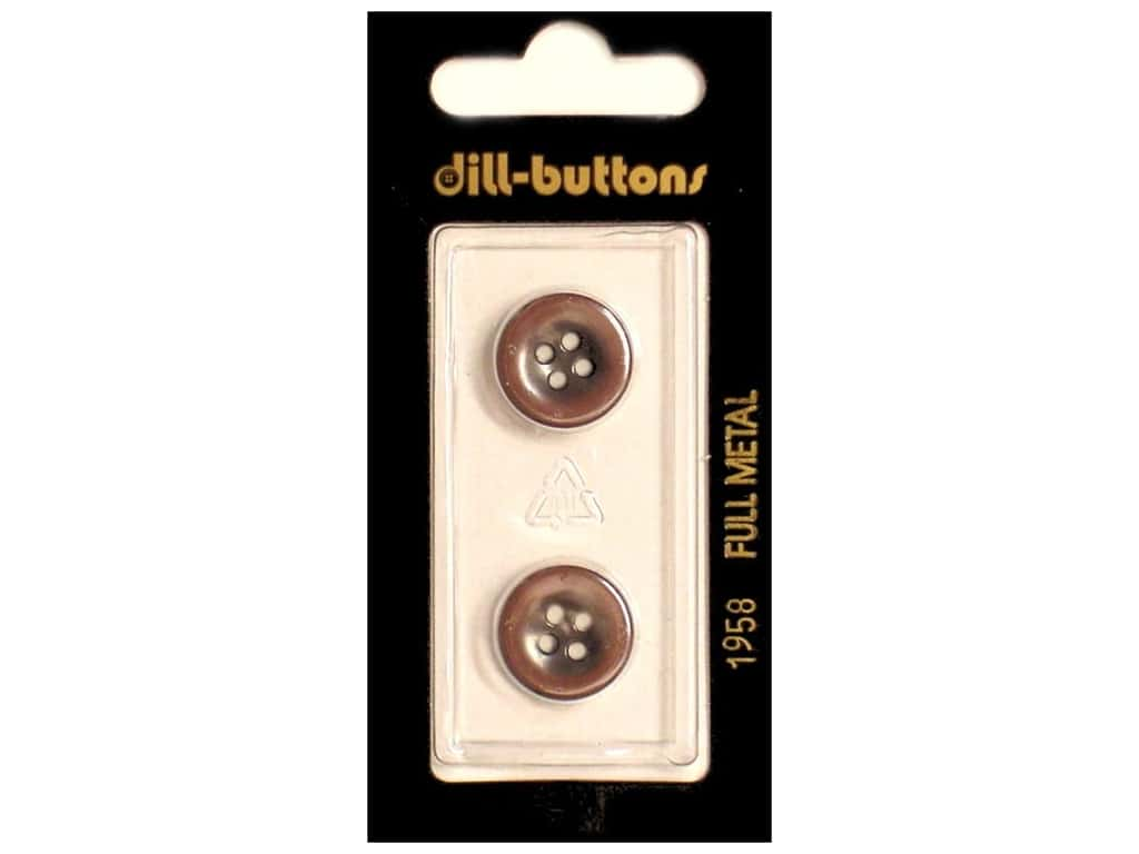 Dill 4 Hole Buttons 5/8 in. Copper Metal #1958 2 pc.