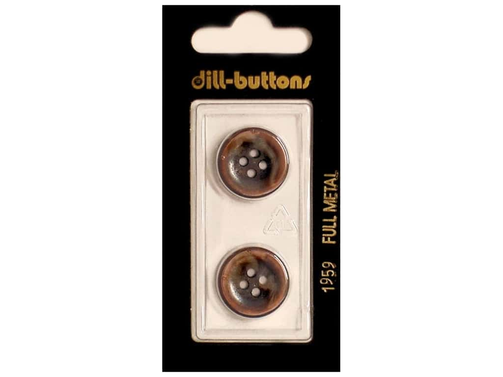 Dill 4 Hole Buttons 11/16 in. Copper Metal #1959 2 pc.