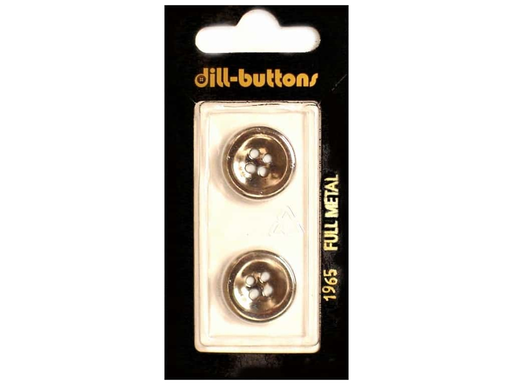 Dill 4 Hole Buttons 11/16 in. Antique Silver Metal #1965 2 pc.