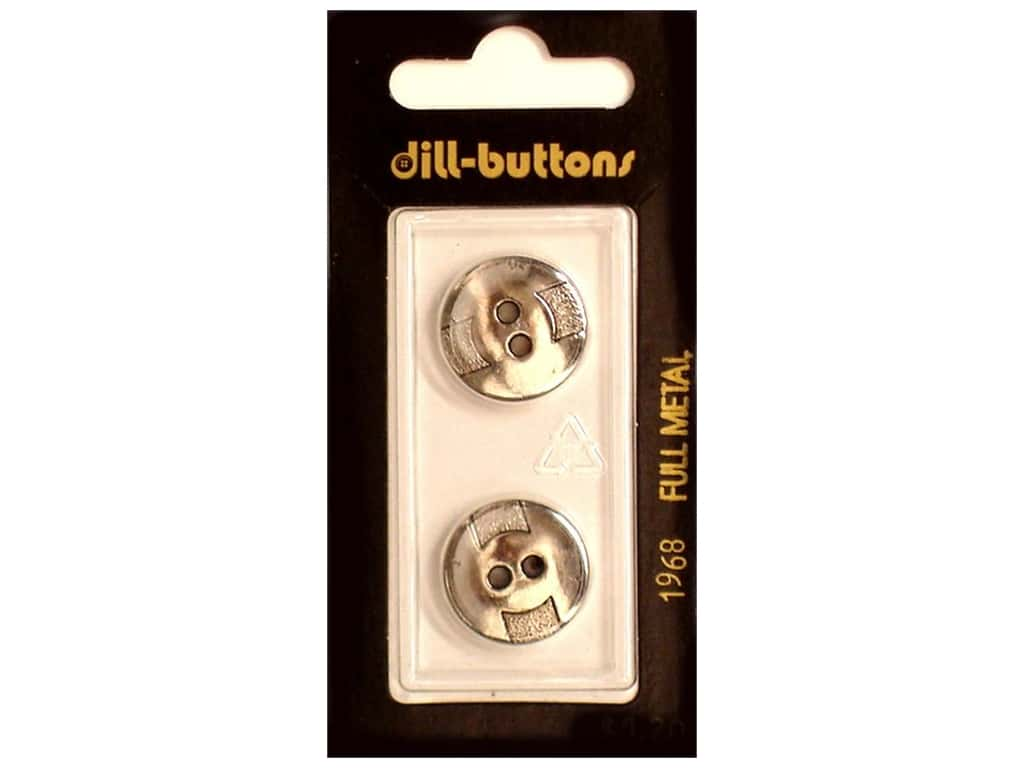 Dill 2 Hole Buttons 11/16 in. Antique Silver Metal #1968 2 pc.