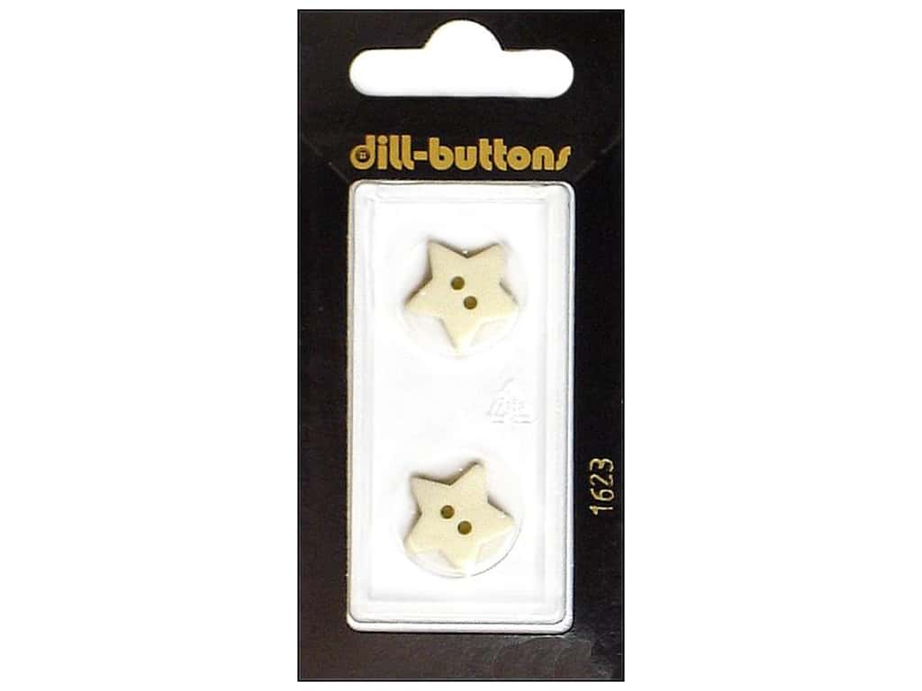 Dill 2 Hole Buttons 5/8 in. White Star #1623 2 pc.