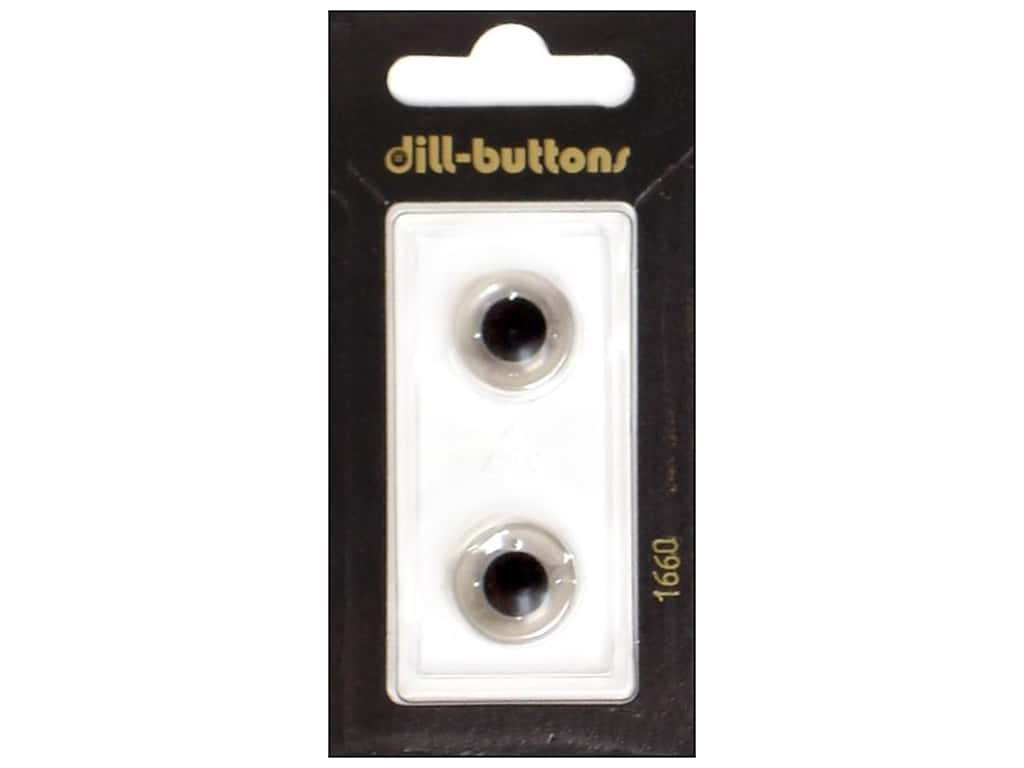 Dill Shank Buttons 5/8 in.Transparent #1660 2 pc.