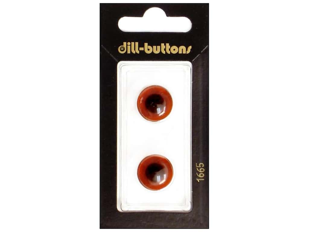 Dill Shank Buttons 5/8 in. Brown #1665 2  pc.