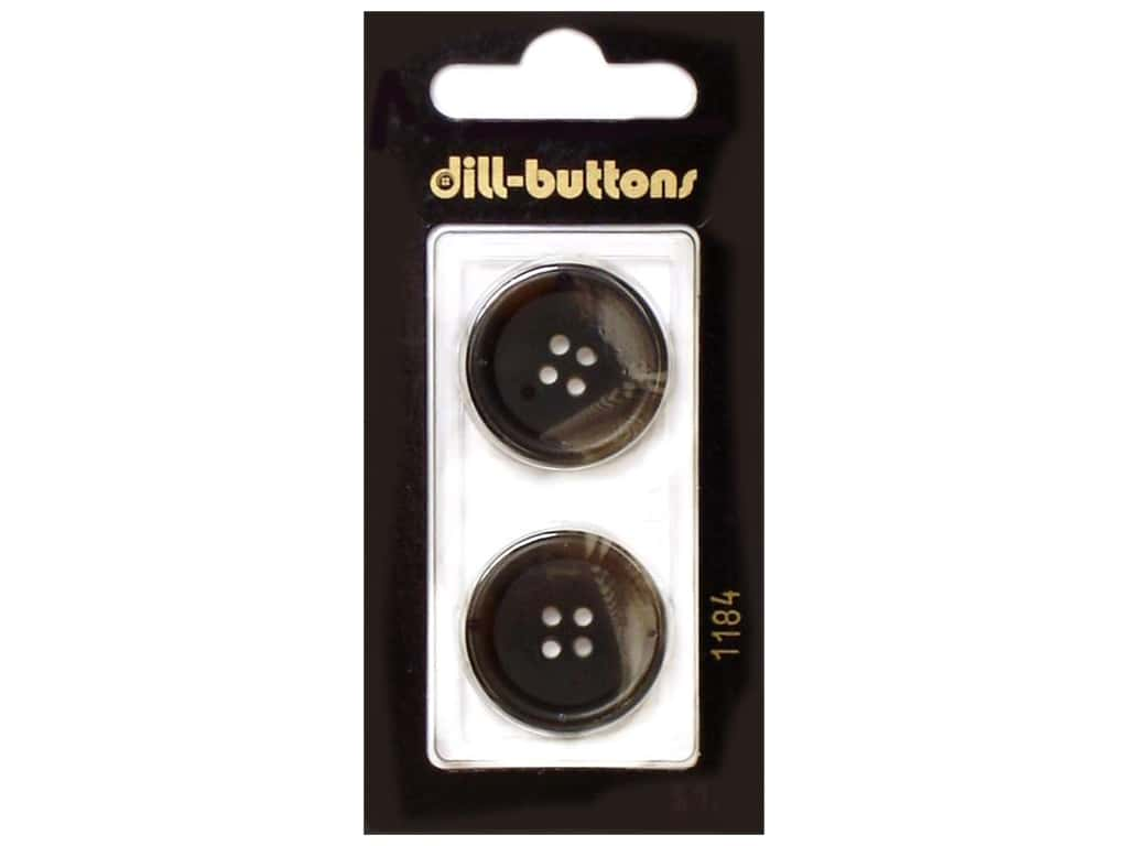 Dill 4 Hole Buttons 7/8 in. Brown #1184 2 pc.