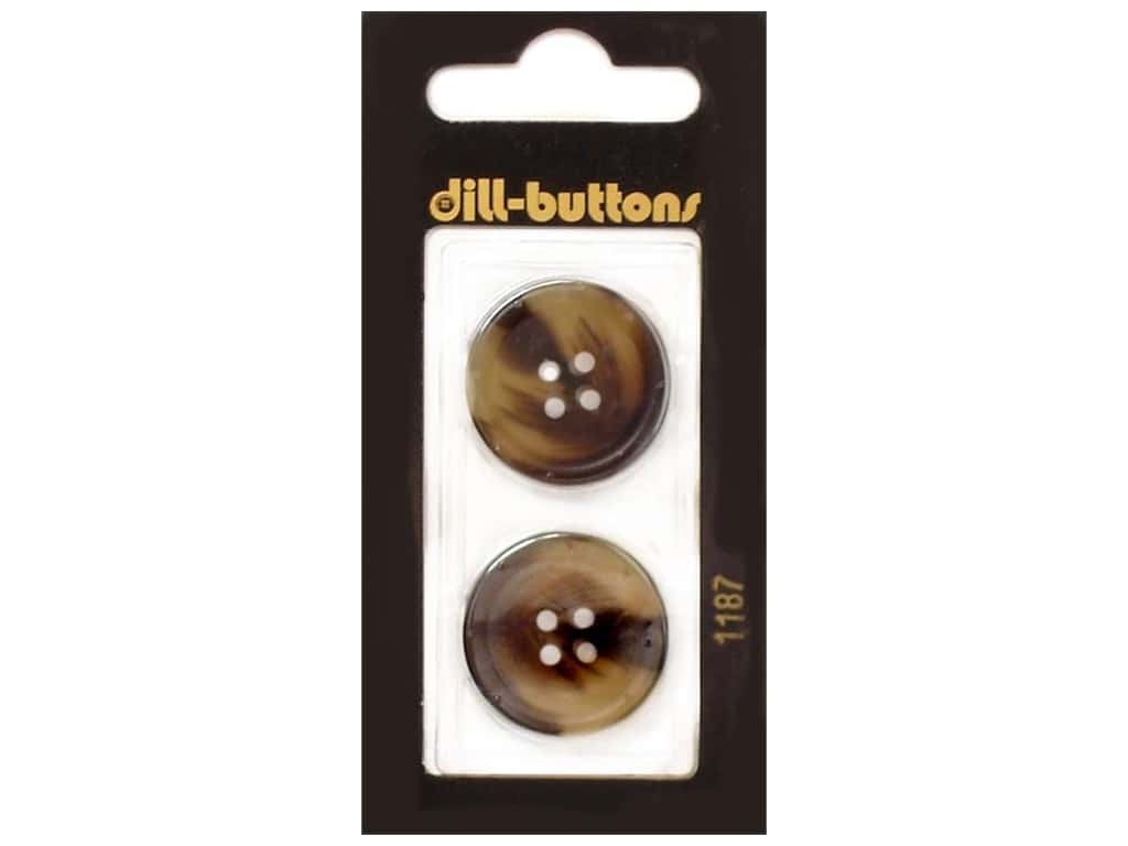 Dill 4 Hole Buttons 7/8 in. Brown #1187 2 pc.
