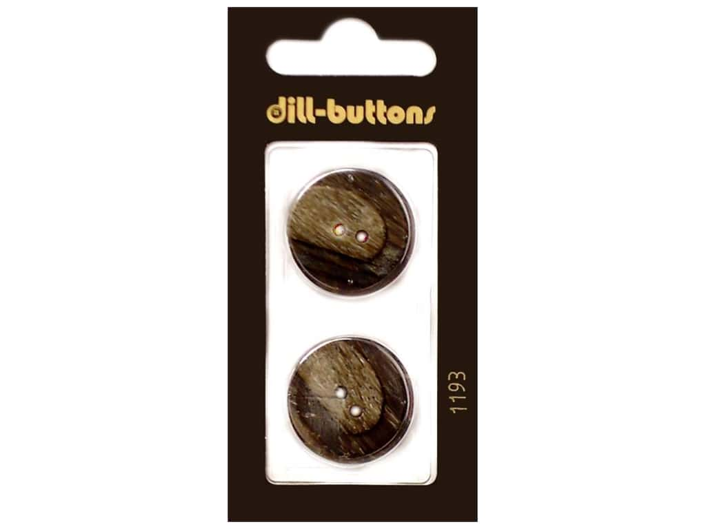 Dill 2 Hole Buttons 7/8 in. Brown #1193 2 pc.