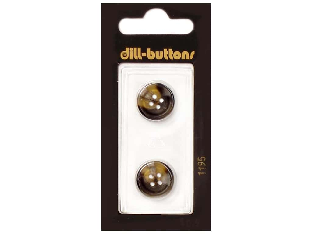 Dill 4 Hole Buttons 5/8 in. Brown #1195 2 pc.