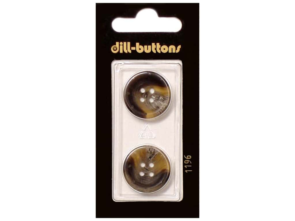 Dill 4 Hole Buttons 13/16 in. Brown #1196 2 pc.