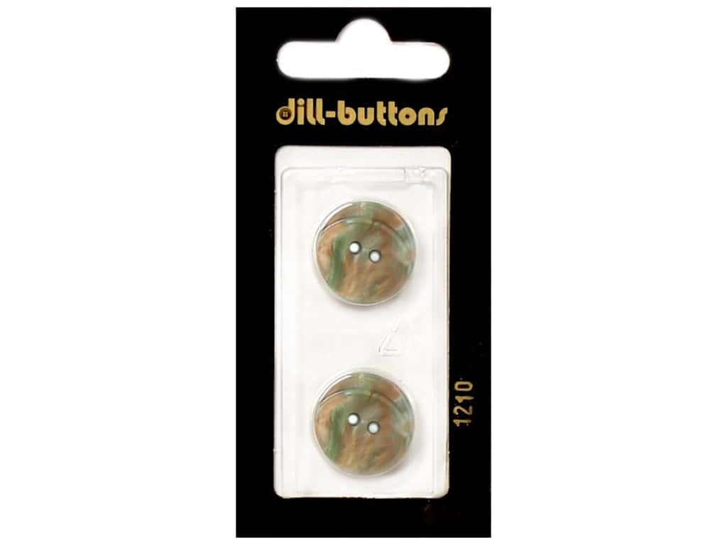 Dill 2 Hole Buttons 11/16 in. Dark Green #1210 2 pc.
