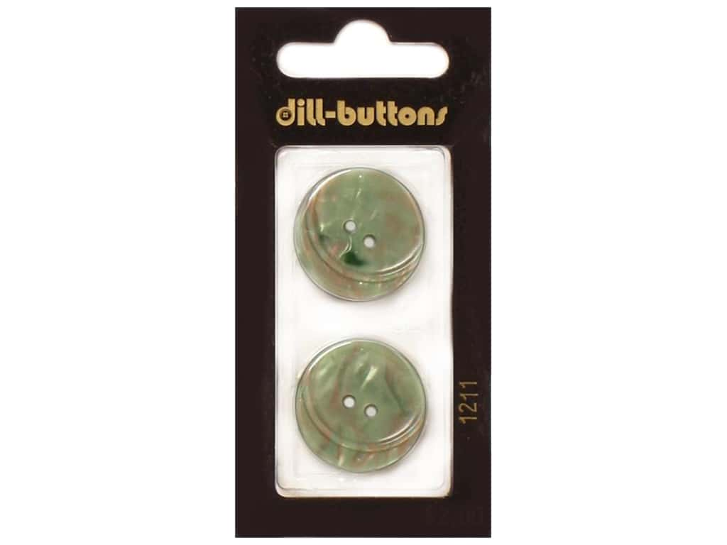 Dill 2 Hole Buttons 7/8 in. Dark Green #1211 2 pc.