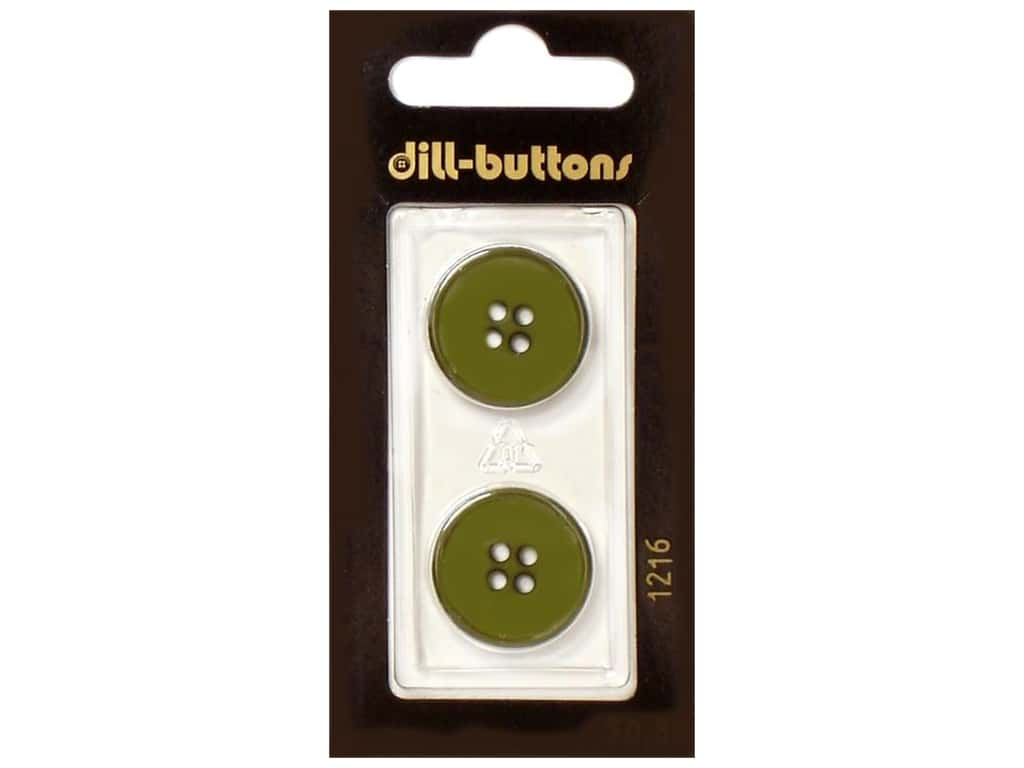 Dill 4 Hole Buttons 13/16 in. Olive Green #1216 2 pc.