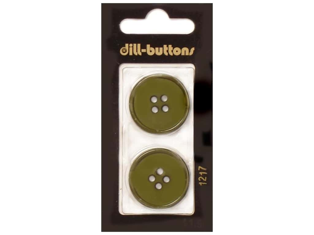 Dill 4 Hole Buttons 1 in. Olive Green #1217 2 pc.