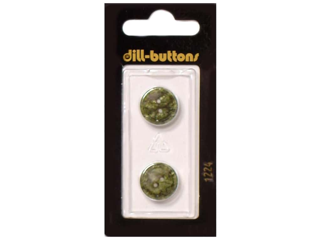 Dill 2 Hole Buttons 5/8 in. Dark Green #1224 2 pc.