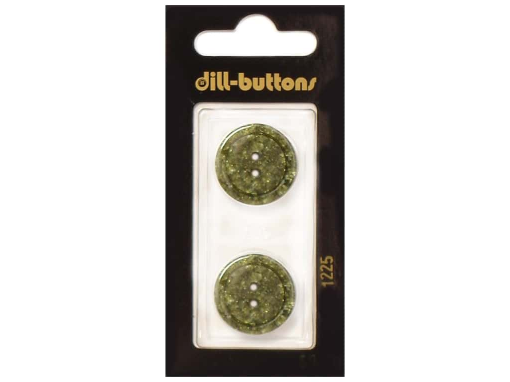 Dill 2 Hole Buttons 13/16 in. Dark Green #1225 2 pc.
