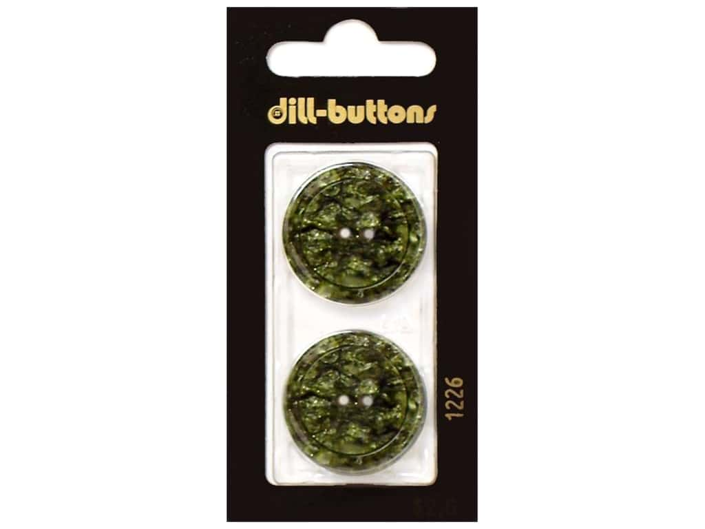 Dill 2 Hole Buttons 1 in. Dark Green #1226 2 pc.