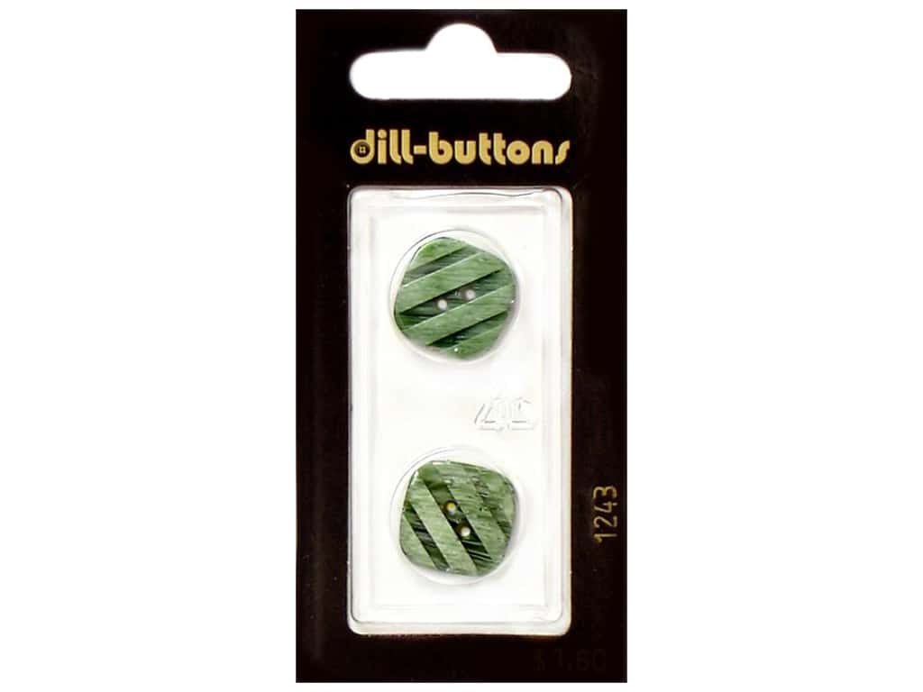 Dill 2 Hole Buttons 11/16 in. Light Green #1243 2 pc.