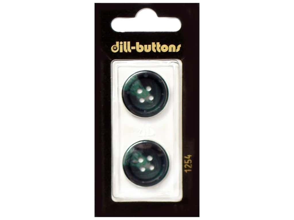 Dill 4 Hole Buttons 13/16 in. Dark Green #1254 2 pc.