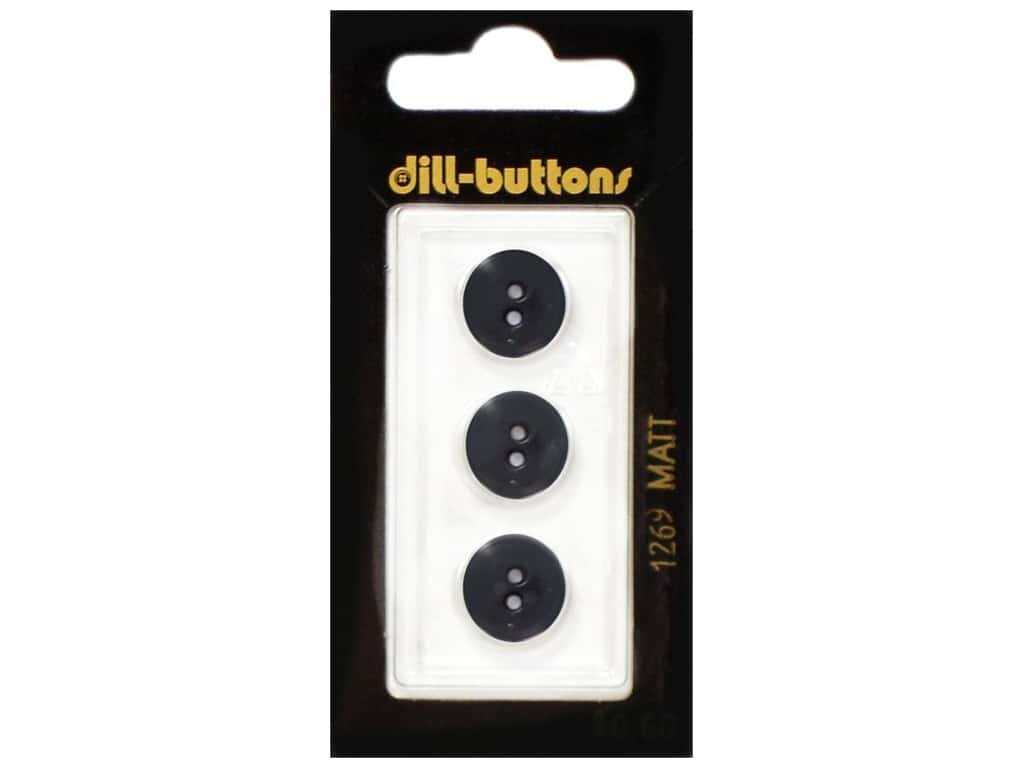 Dill 2 Hole Buttons 1/2 in. Dark Green #1269 3 pc.