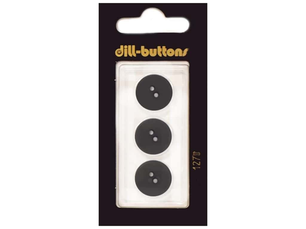Dill 2 Hole Buttons 5/8 in. Dark Green #1270 3 pc.