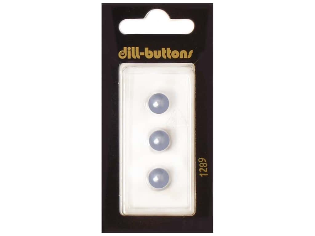 Dill Shank Buttons 5/16 in. Pearl Blue #1289 3 pc.