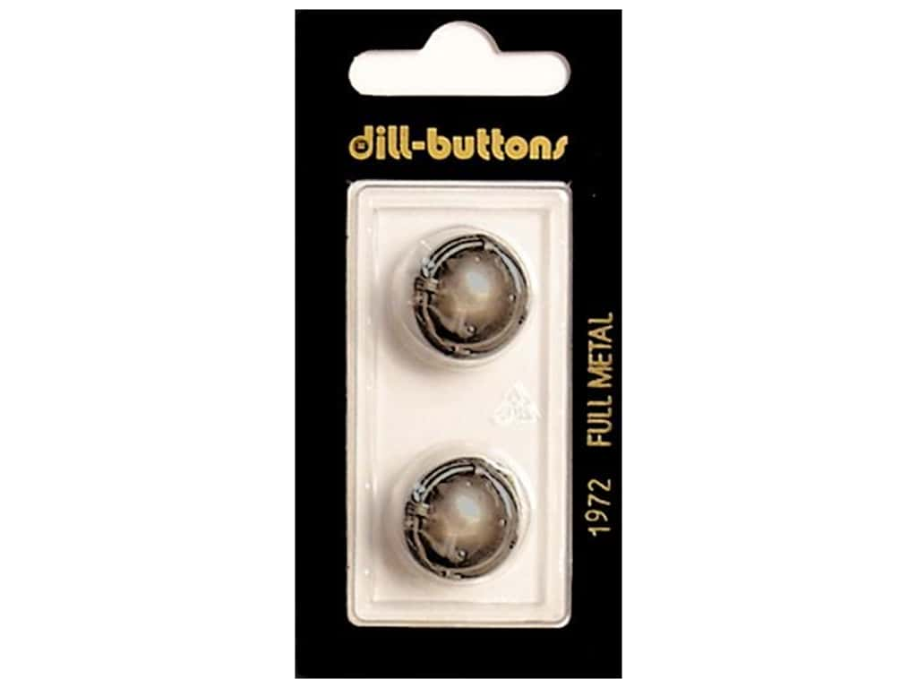 Dill Shank Buttons 11/16 in. Dull Silver Metal #1972 2 pc.