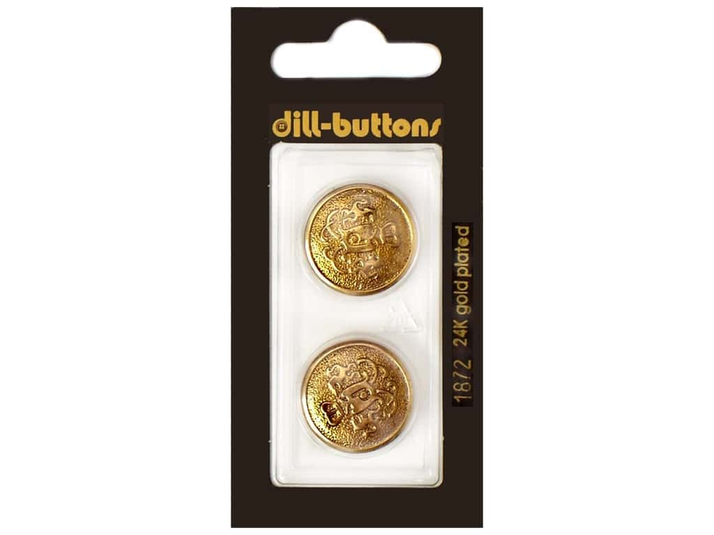 Dill Shank Buttons 13/16 in.  Antique Gold Metal #1872 2 pc.