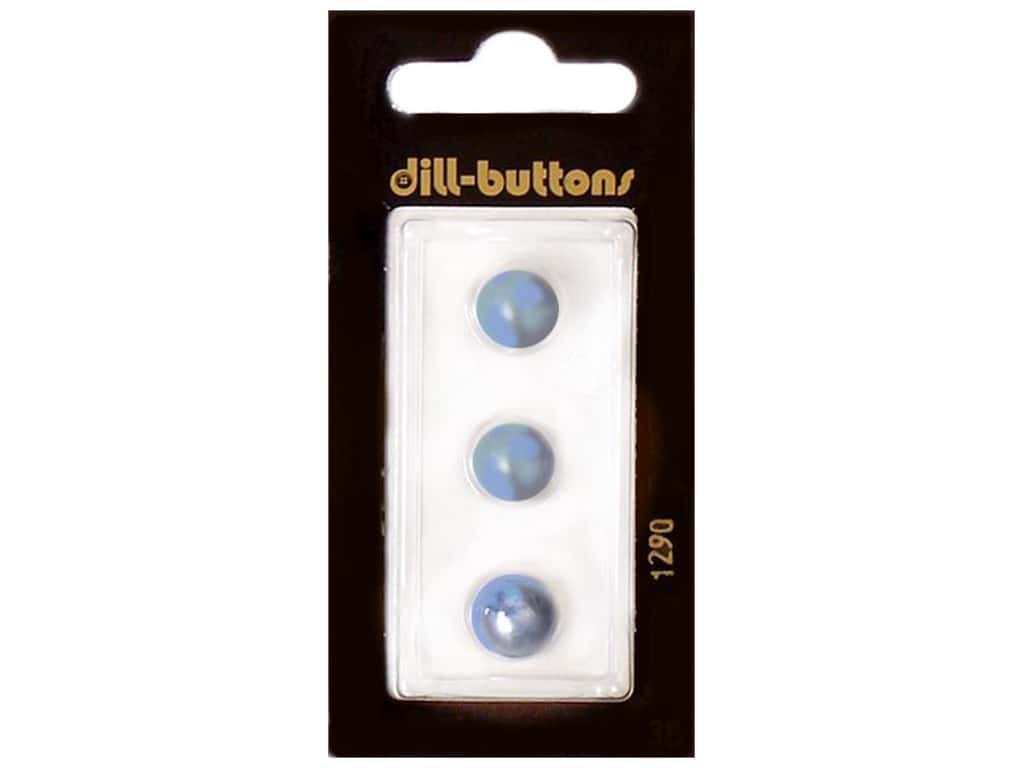 Dill Shank Buttons 3/8 in. Pearl Blue #1290 3 pc.