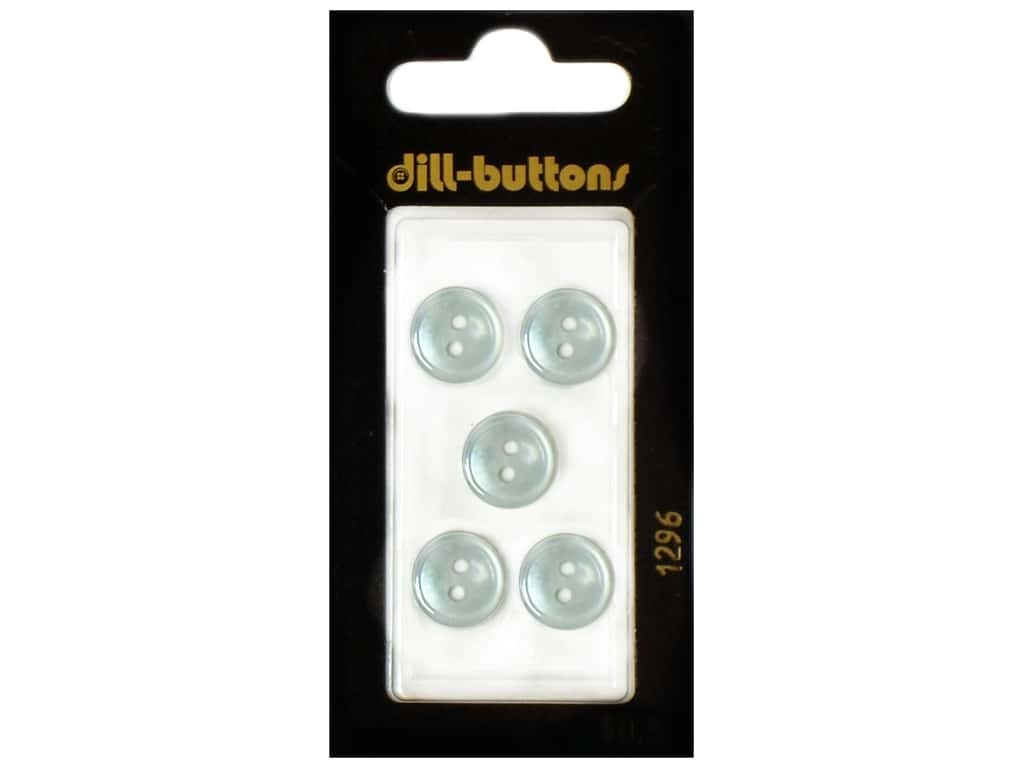 Dill 2 Hole Buttons 7/16 in. Blue #1296 5 pc.