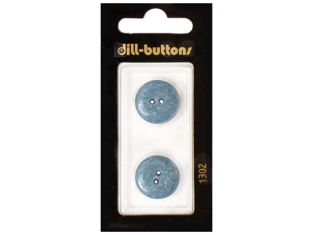 Dill 2 Hole Buttons 11/16 in. Blue #1302 2 pc.