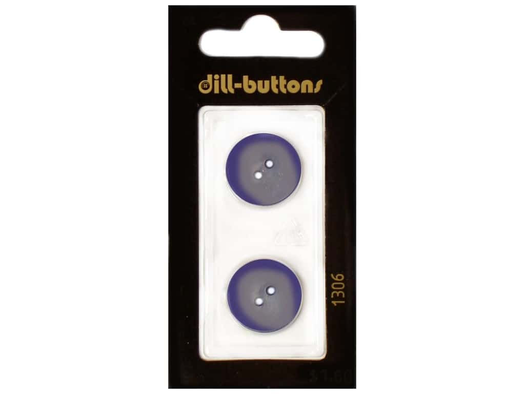 Dill 2 Hole Buttons 11/16 in. Royal Blue #1306 2 pc.