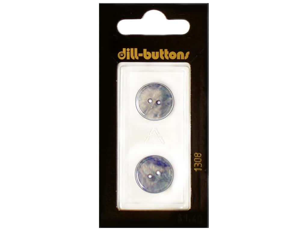 Dill 2 Hole Buttons 5/8 in. Royal Blue #1308 2 pc.