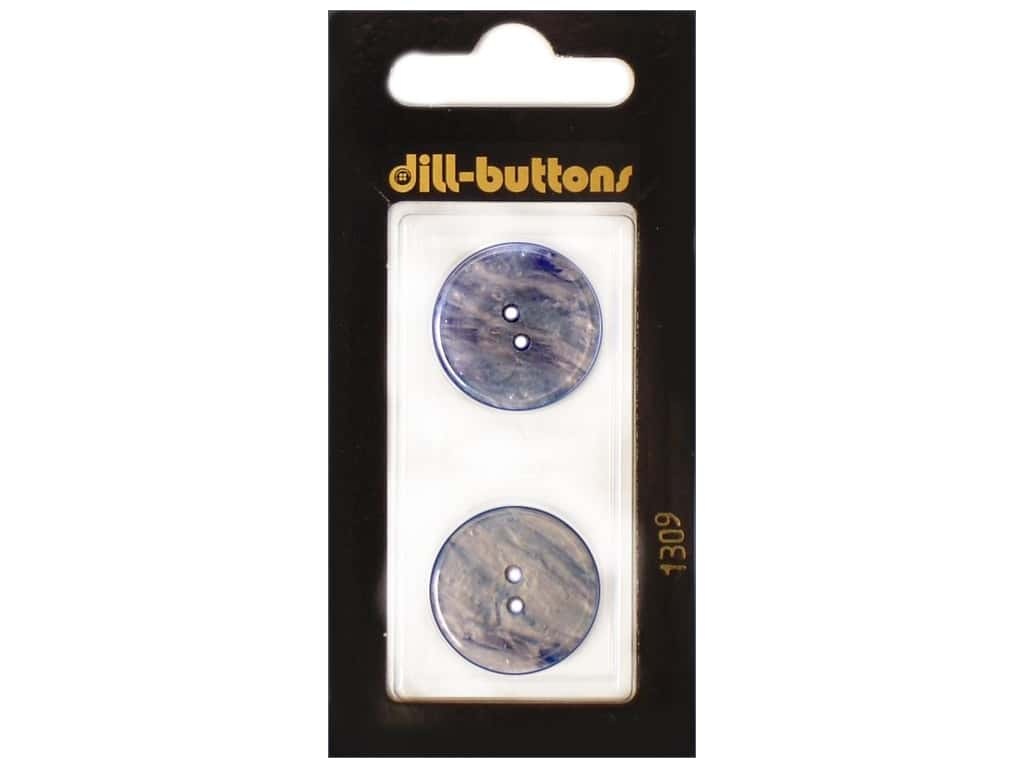 Dill 2 Hole Buttons 13/16 in. Royal Blue #1309 2 pc.