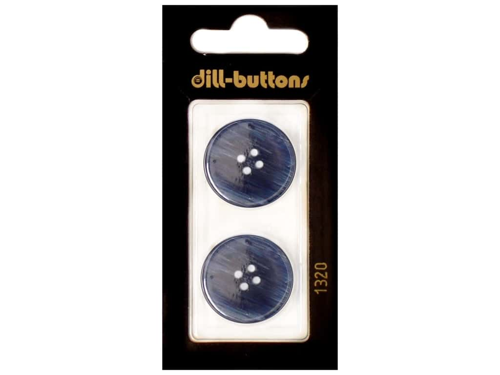 Dill 4 Hole Buttons 7/8 in. Navy #1320 2 pc.